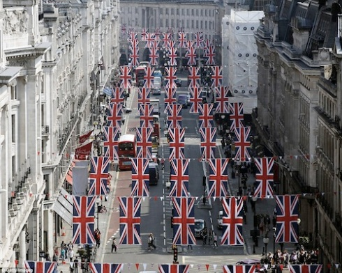 Regent St at Queen's Diamond Jubilee