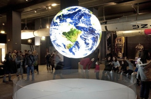 planet earth in science museum
