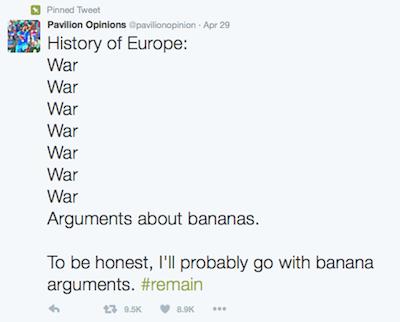 History of europe banana